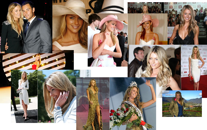 Jennifer Hawkins Gallery  -  only one facial expression